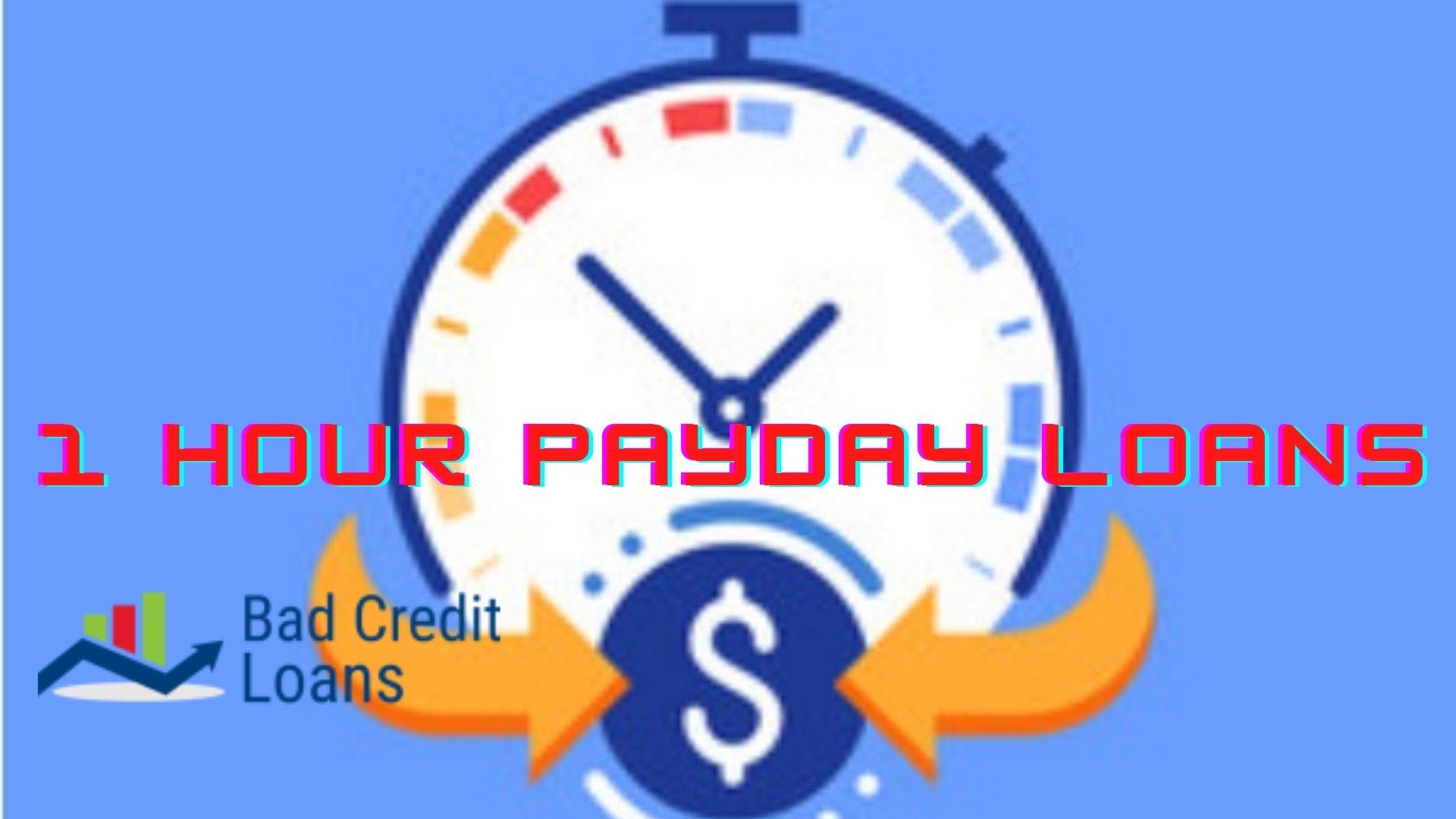 One Hour Loan Bad credit